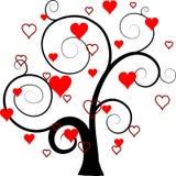 Fondo del árbol de las tarjetas del día de San Valentín,   Fotografía de archivo