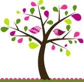 Fondo del árbol de las tarjetas del día de San Valentín Imágenes de archivo libres de regalías