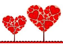 Fondo del árbol de las tarjetas del día de San Valentín, vector Imágenes de archivo libres de regalías