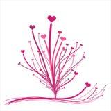 Fondo del árbol de los corazones   Foto de archivo libre de regalías