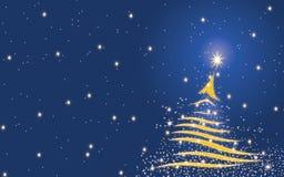 Fondo del árbol de navidad - azul Foto de archivo libre de regalías