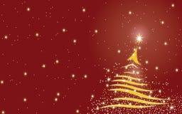 Fondo del árbol de navidad - rojo Fotos de archivo