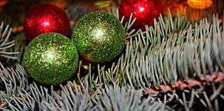 Fondo del árbol de navidad, tarjeta de felicitación Fotografía de archivo libre de regalías