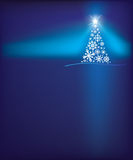 Fondo del árbol del copo de nieve de la Navidad Imagen de archivo libre de regalías