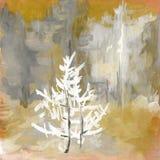 Fondo del árbol del grunge del arte Fotografía de archivo libre de regalías