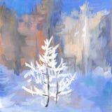 Fondo del árbol del grunge del arte Foto de archivo libre de regalías
