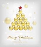 Fondo del árbol del oro de Navidad del vector stock de ilustración