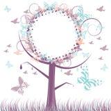 Fondo del árbol del otoño Stock de ilustración