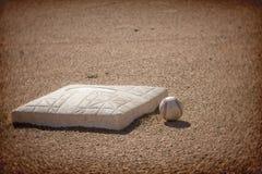 Fondo del área de la pista de aterrizaje del béisbol Fotos de archivo