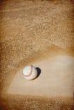 Fondo del área de la pista de aterrizaje del béisbol fotografía de archivo libre de regalías