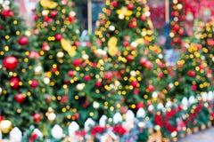 Fondo del Año Nuevo del árbol de navidad verde Imagen de archivo