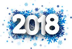 Fondo del Año Nuevo 2018 stock de ilustración