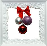 Fondo del Año Nuevo Capítulo con las bolas de la Navidad Imagenes de archivo