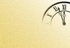 Fondo del Año Nuevo con el reloj Imagen de archivo libre de regalías