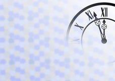 Fondo del Año Nuevo con el reloj Imágenes de archivo libres de regalías