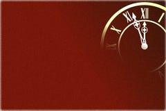 Fondo del Año Nuevo con el reloj Imagen de archivo