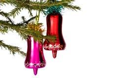 Fondo del Año Nuevo con la decoración de la Navidad Fotos de archivo