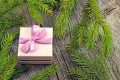 Fondo del Año Nuevo con las decoraciones Imagenes de archivo