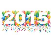 fondo del Año Nuevo de 2015 globos Fotos de archivo libres de regalías