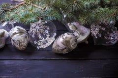 Fondo del Año Nuevo de la Navidad Fotografía de archivo