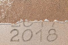 Fondo del Año Nuevo de la playa Fotografía de archivo libre de regalías