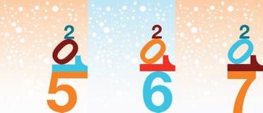 Fondo del Año Nuevo del copo de nieve Imagenes de archivo