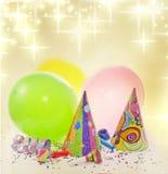 Fondo del Año Nuevo del cumpleaños del partido Foto de archivo libre de regalías
