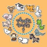 Fondo del Año Nuevo del zodiaco de 12 animales Foto de archivo libre de regalías