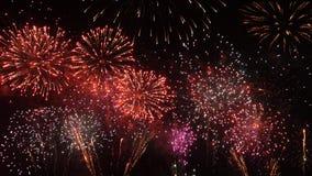 Fondo del Año Nuevo del fuego artificial Foto de archivo