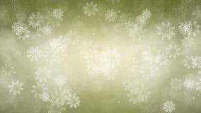 Fondo del Año Nuevo Los copos de nieve y las chispas están volando lentamente ilustración del vector