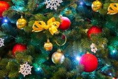 Fondo del Año Nuevo para la tarjeta de felicitación Foto de archivo libre de regalías