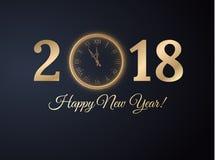Fondo del Año Nuevo 2018 Vector eps10 Fotografía de archivo