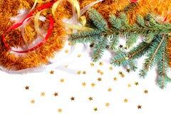 Fondo del Año Nuevo y de la Navidad Fotografía de archivo libre de regalías
