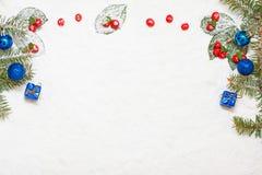 Fondo del Año Nuevo y de la Navidad Fotografía de archivo