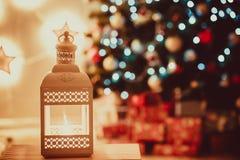 Fondo del Año Nuevo y de la Navidad Imagenes de archivo