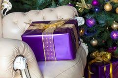 Fondo del Año Nuevo y de la Navidad Fotos de archivo libres de regalías