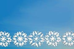 Fondo del Año Nuevo y de la Navidad con los copos de nieve para su texto Imagen de archivo