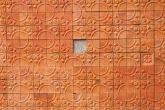 Fondo del abstrack de la terracota de la pared de Brown Fotografía de archivo libre de regalías