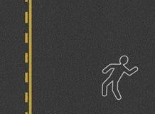 Fondo del accidente de tráfico Foto de archivo libre de regalías