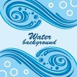 Fondo del agua Imágenes de archivo libres de regalías