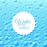 Fondo del agua con las burbujas Fotografía de archivo