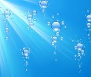 Fondo del agua con las burbujas ilustración del vector