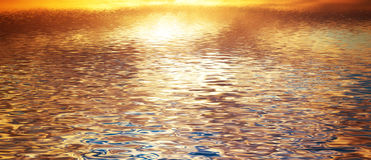 Fondo del agua potable, ondas de la calma Bandera, panorama imagenes de archivo