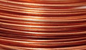 Fondo del alambre de cobre Imágenes de archivo libres de regalías