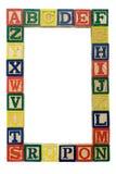 Fondo del alfabeto Fotos de archivo
