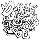 Fondo del alfabeto libre illustration