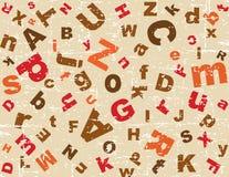 Fondo del alfabeto de Grunge Foto de archivo libre de regalías