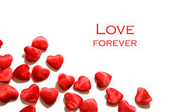 Fondo del amor. Composición de los corazones Foto de archivo libre de regalías