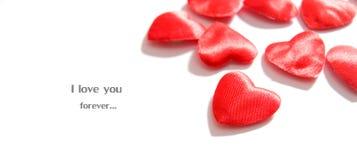 Fondo del amor. Composición de los corazones Imagen de archivo