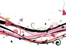 Fondo del amor con los corazones Ilustración del Vector